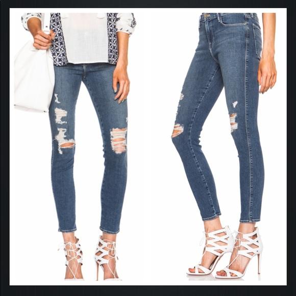 cad1506f14c Frame Denim Jeans | Frame Distressed Le High Skinny In Seely 25 ...